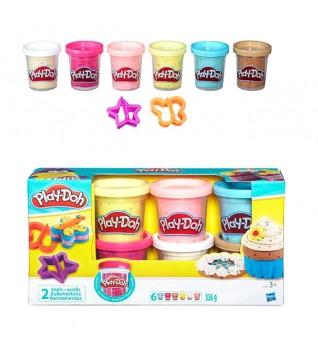 Play-Doh Набор из 6 баночек с конфетти - Суперцена!