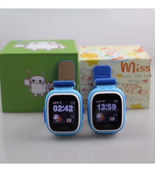 Детские Умные Часы с GPS Трекером Smart Baby Watch А10 (Q90) Синие
