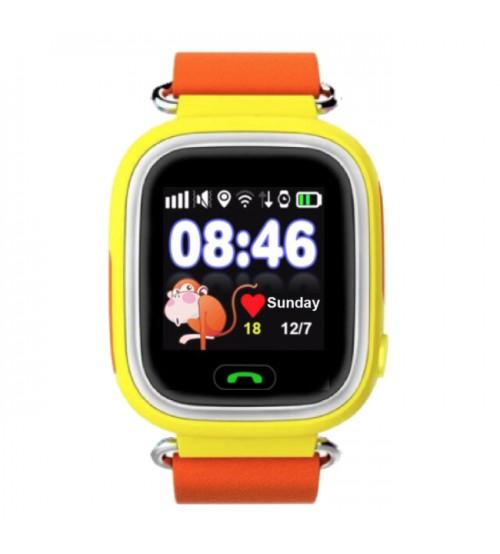 Детские Умные Часы с GPS Трекером Smart Baby Watch А10 (Q90) Желтые