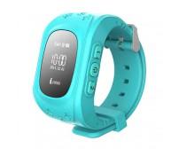 Умные детские часы с GPS трекером Q50 Smart Baby Watch голубые