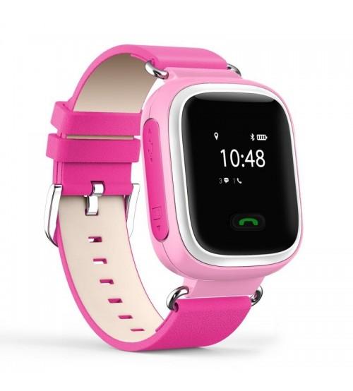 Умные Детские Часы с GPS Трекером Smart Baby Watch Q60 Ярко Розовые