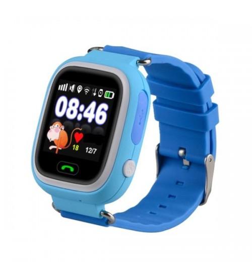 Умные Детские Часы с GPS Трекером Smart Baby Watch Q80 Насыщенно Голубые