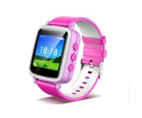 Умные Детские Часы с GPS Трекером Smart Baby Watch Q80 Ярко Розовые