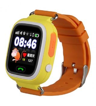 Умные Детские Часы с GPS Трекером Smart Baby Watch Q80 Жизнерадостные Оранжевые