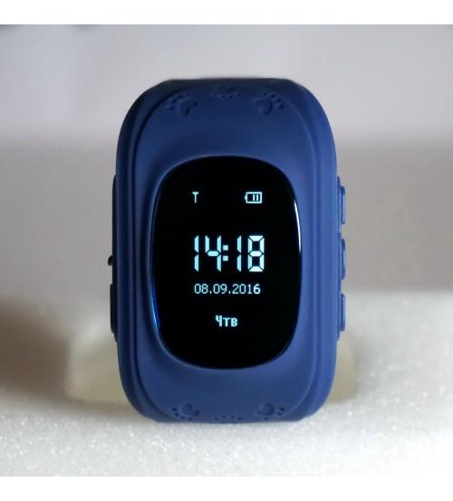 Умные Детские Часы с GPS Трекером Q50 Smart Baby Watch Синие