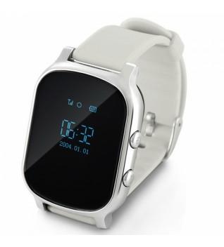 Детские Умные Часы с GPS Трекером Smart Baby Watch Т58 Серебристые