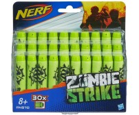 Декорированные стрелы к бластеру Hasbro Нерф. Патроны Зомби-страйк 30 шт. (A4570)