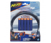 Защитные очки агента NERF + 5 патронов Elite
